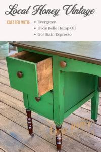 Wood Desk Makeover